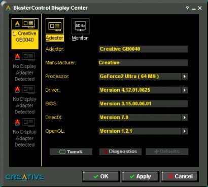 Creative BlasterControl Display Centers