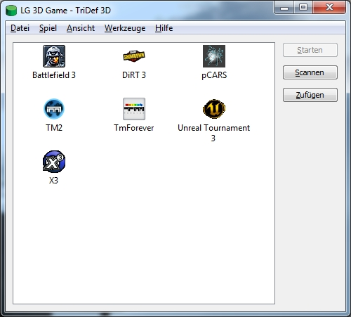 TriDef 3D Game Launcher