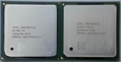 Links Pentium 4 2400, rechts Pentium 4 2533