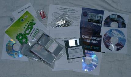 Mitgelieferte Software und Handbücher