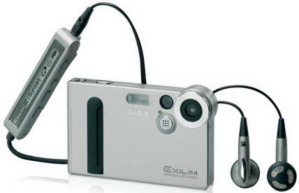 EXILIM mit MP3-Equipment