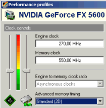GeForce FX5600: 2D-Modus