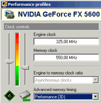 GeForce FX5600: 3D-Modus