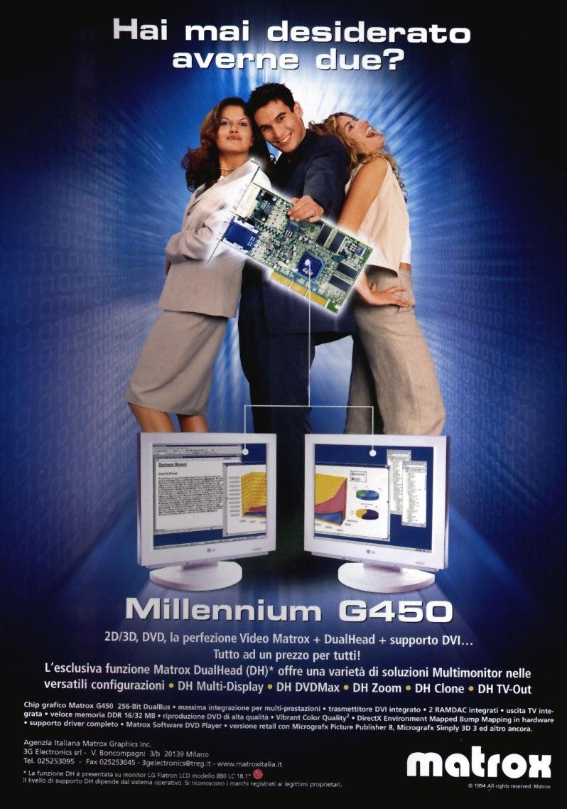 Matrox G450 Werbung auf Italienisch