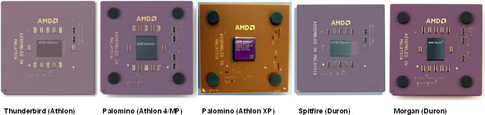 Vergleich Athlon/Athlon 4/Athlon XP