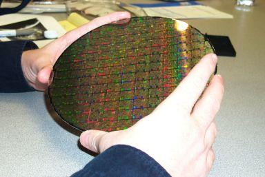 """Pentium 4 Wafer (0,18µ auf 9"""" Wafer)"""