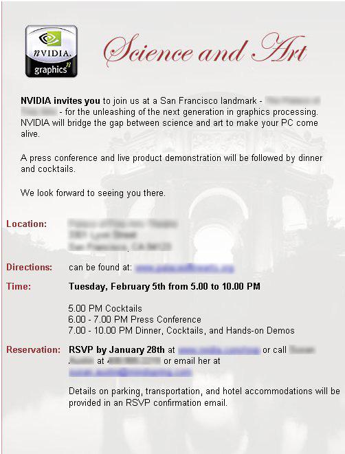 nVidia Einladung