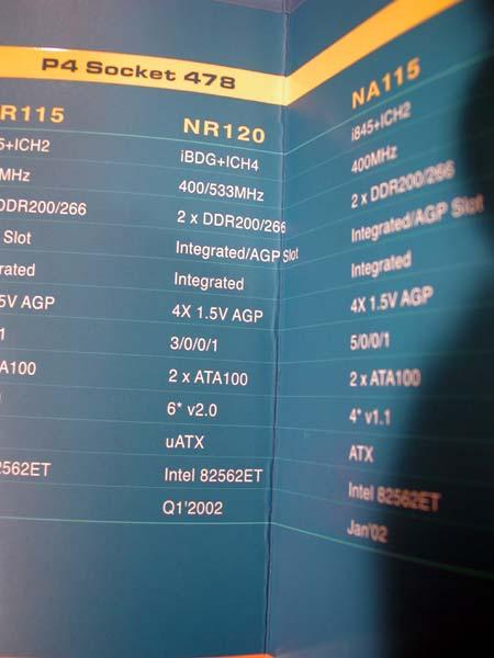 Featureliste des i845G-Mainboards