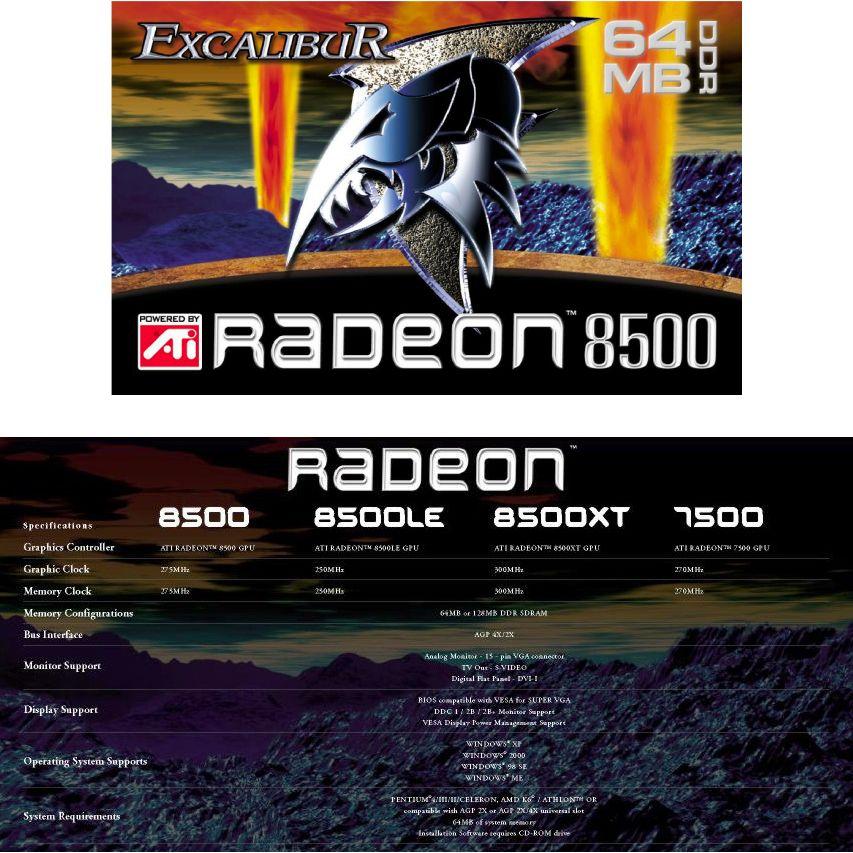Excalibur Radeon 8500 Box