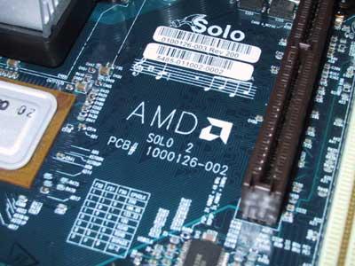 AMD Solo Mainboard (Ausschnitt)