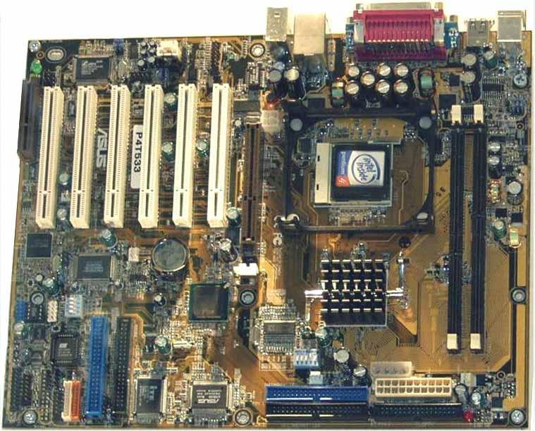 Entwicklersample des Asus P4T533 für RIMM 4200, Quelle: x-bit labs