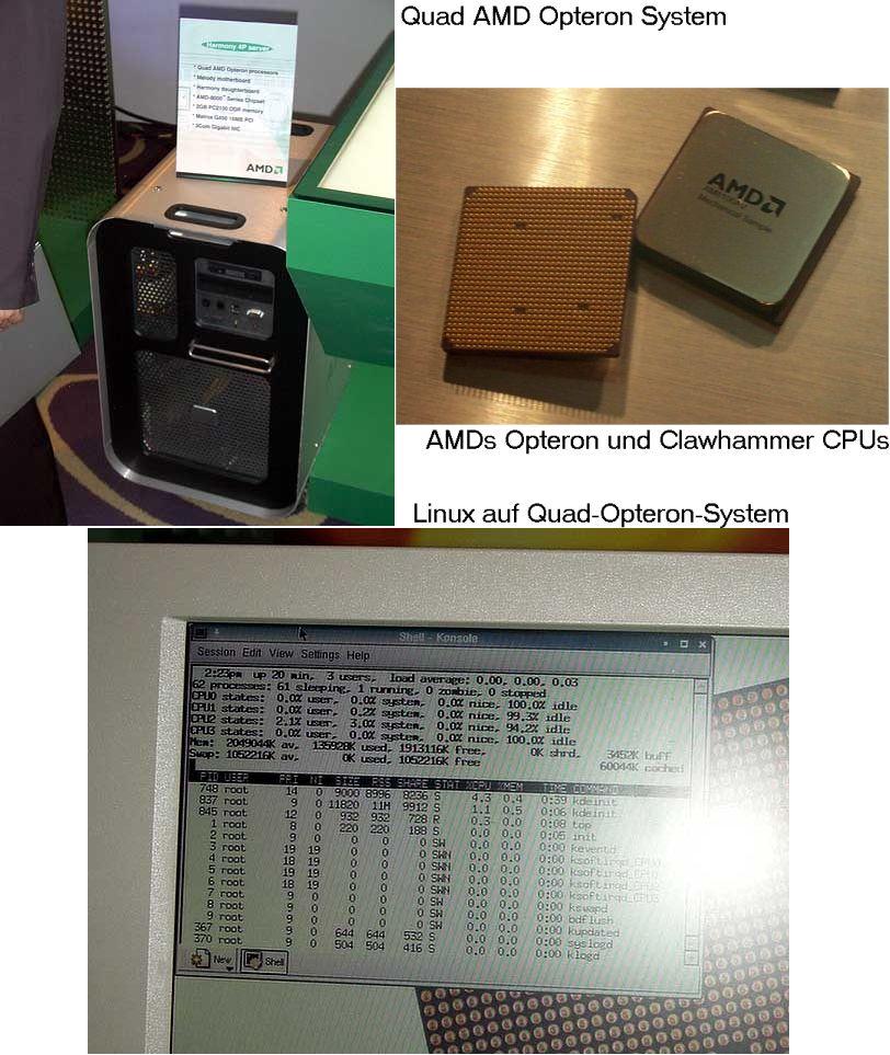 AMD Opteron und Clawhammer Prozessoren