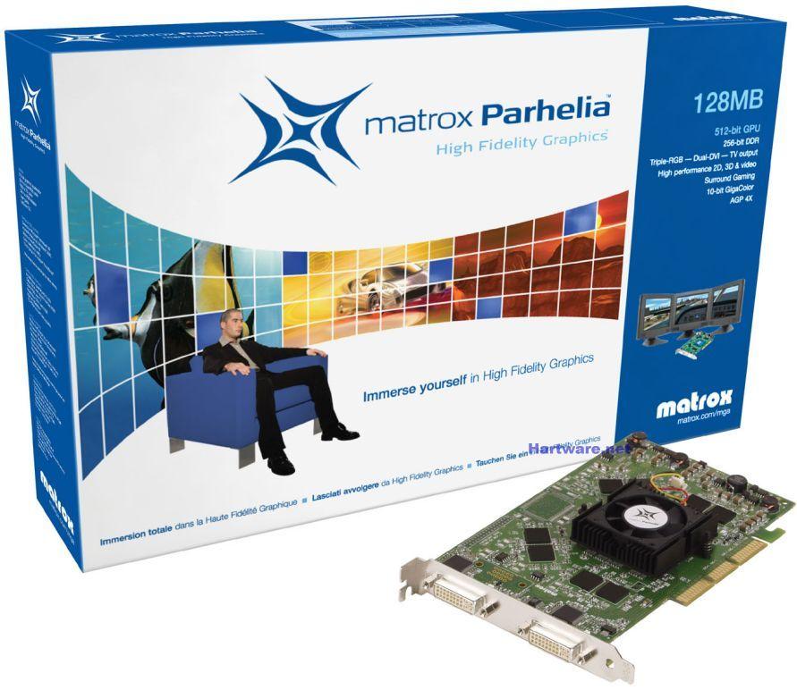 Matrox Parhelia Box und Karte