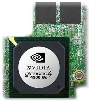 nVidia GeForce4 4200 Go Chip