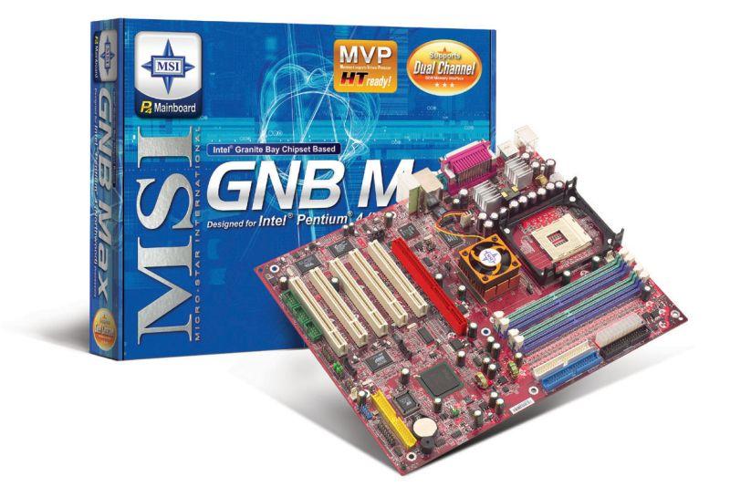 MSI GNB Max Mainboard mit E7205 Chipsatz
