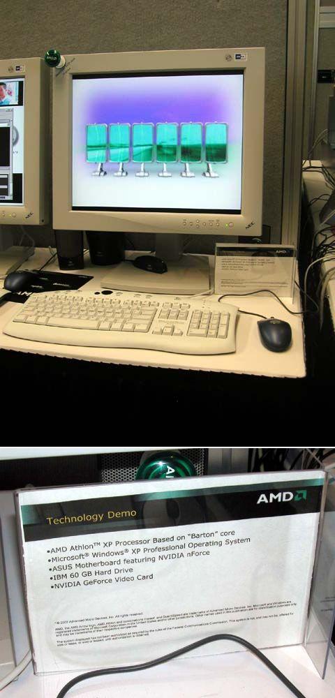 AMD Athlon XP Barton Demo auf der Comdex