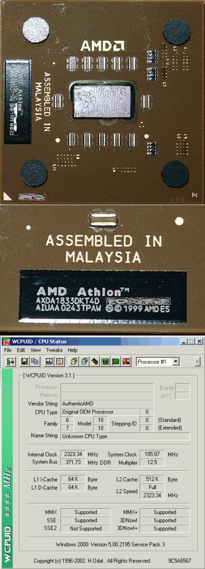 AMD Barton Engineering Sample