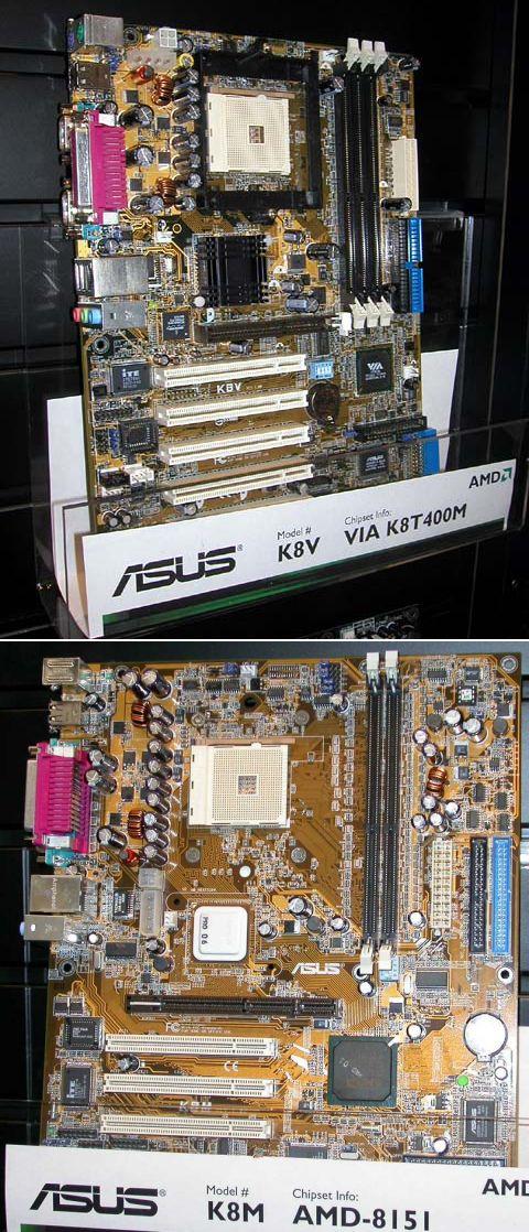 ASUS K8 Mainboards