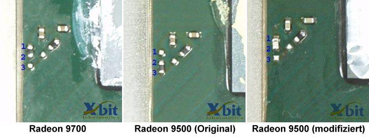 Widerstände von Radeon 9700 und Radeon 9500