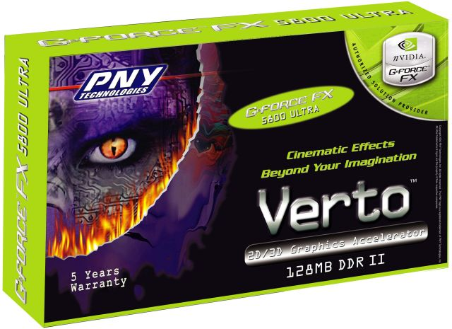 PNY Verto GeForce FX 5800 Ultra Box