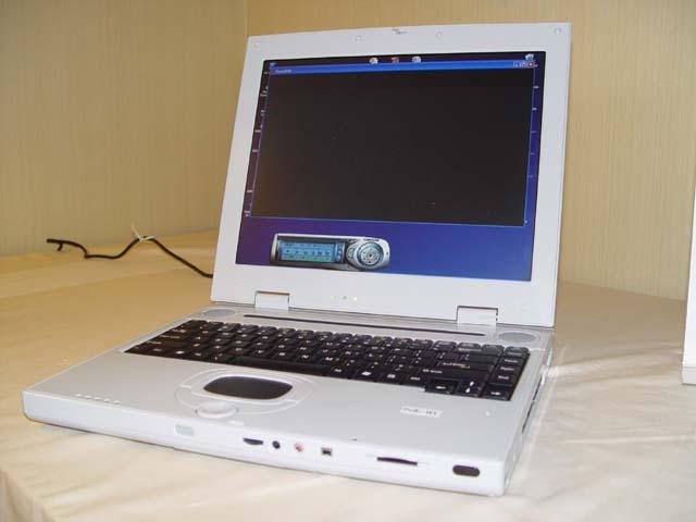 Prototyp eines Athlon 64 Notebooks
