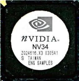 nVidia NV34 Chip (GF FX 5200)