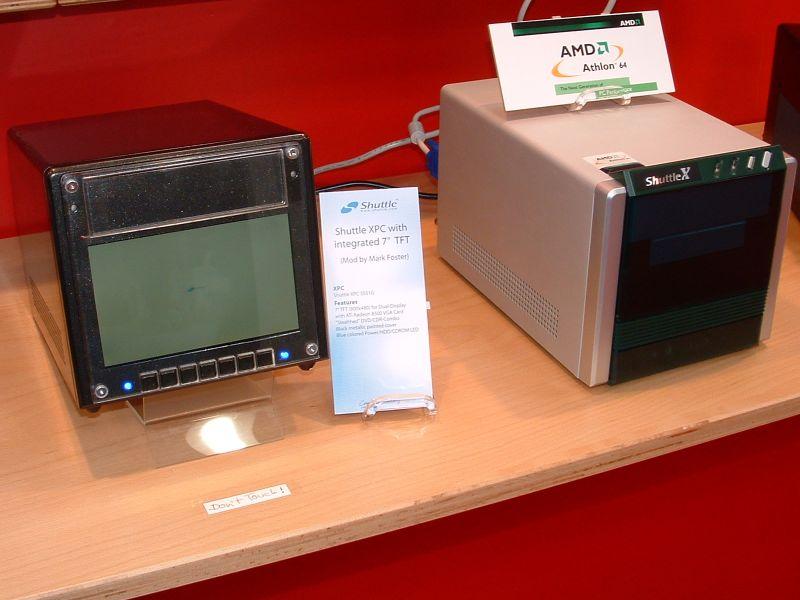CeBIT 2003: Shuttle XPC mit 7-Zoll TFT und für Athlon 64