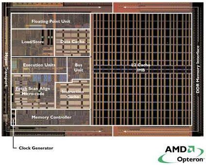 AMD Opteron Die