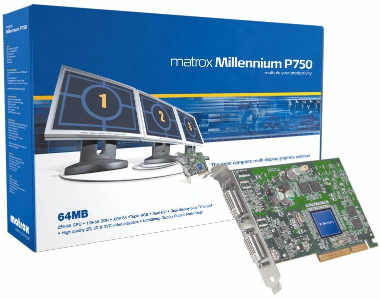 Matrox Millennium P750 Grafikkarte mit Parhelia-LX Chip