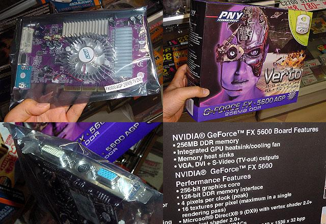PNY GeForce FX5600 256MB in Japan