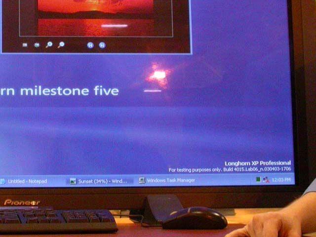 Versionsnummer der Betaversion von Longhorn