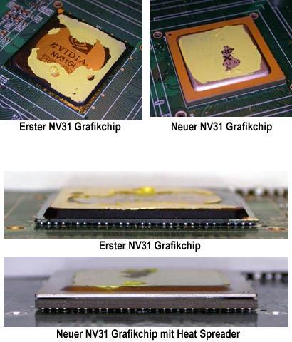 Alter und neuer GeForce FX 5600 Ultra Grafikchip