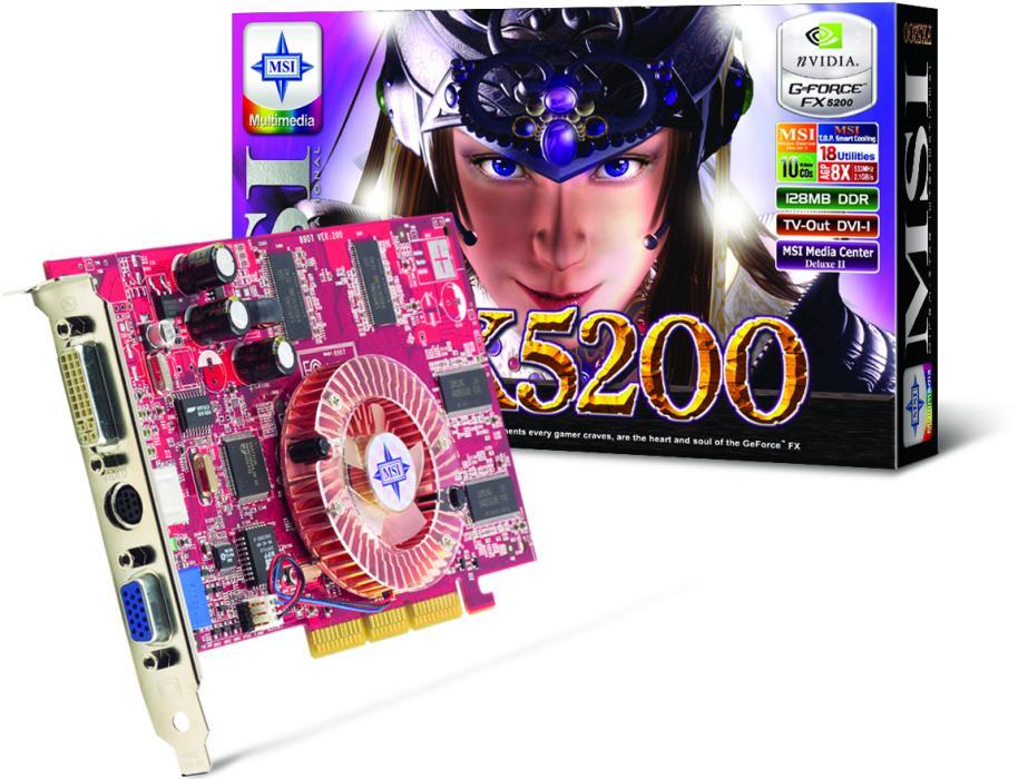 MSI FX5200-TDR128