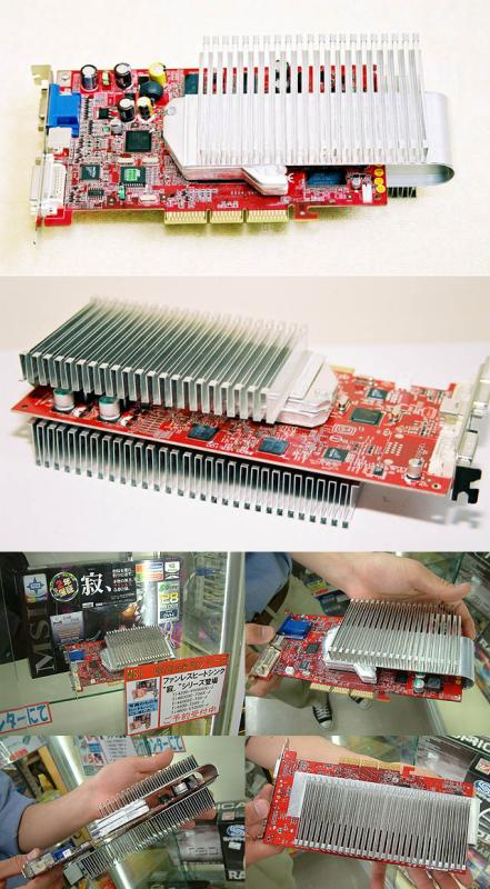 MSI GeForce4 Ti Grafikkarte mit passivem Heatlane Kühler