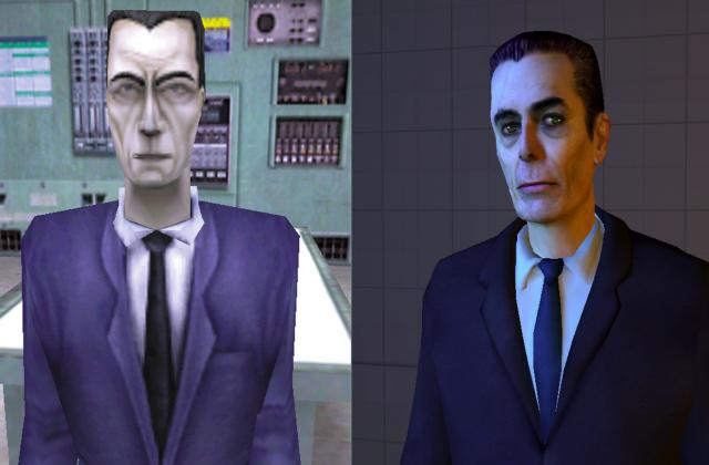 Half-Life G-Man und Half-Life 2 G-Man