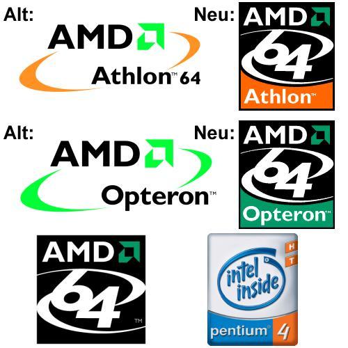 Neue AMD Logos