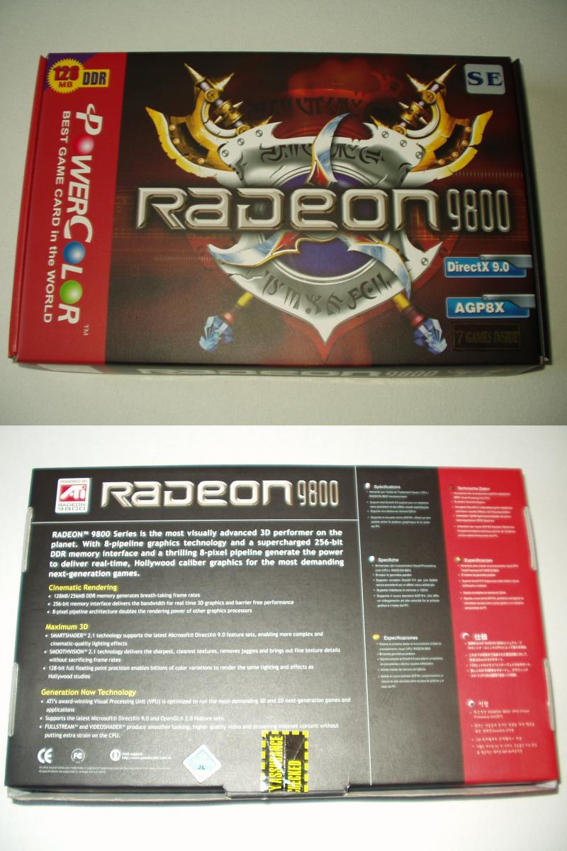 PowerColoer Radeon 9800SE Box