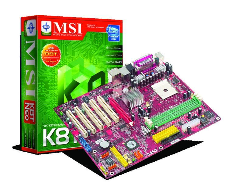 MSI K8T Neo-FIS2R Mainboard für Athlon 64 Sockel-754