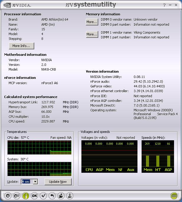 nVidia System Utility