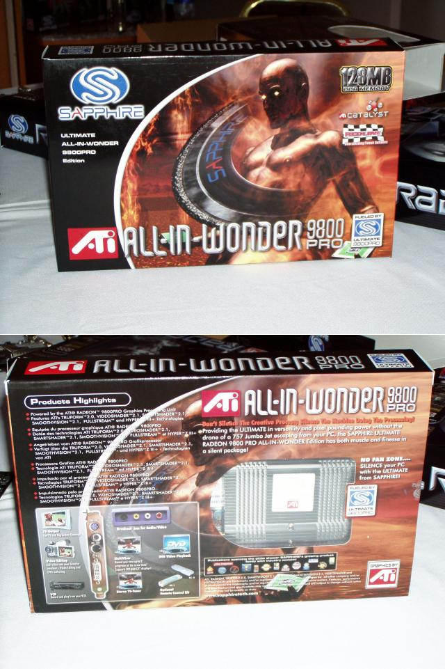Sapphire Ultimate All-In-Wonder 9800 Pro Edition Box
