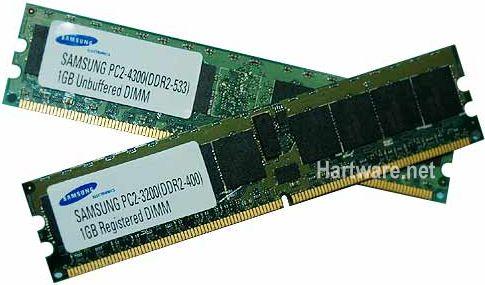 DDR2 SDRAM Speichermodule von Samsung