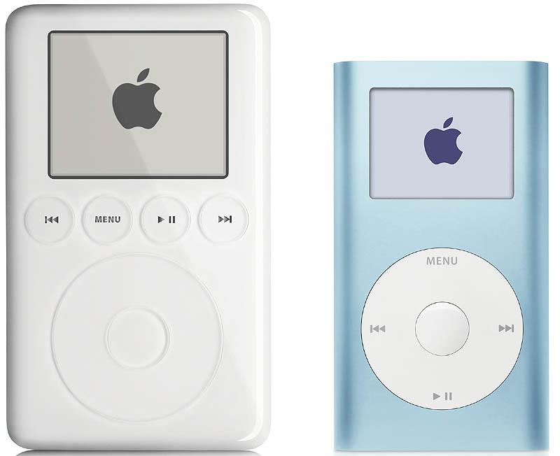 Größenvergleich: Apple iPod und iPod mini