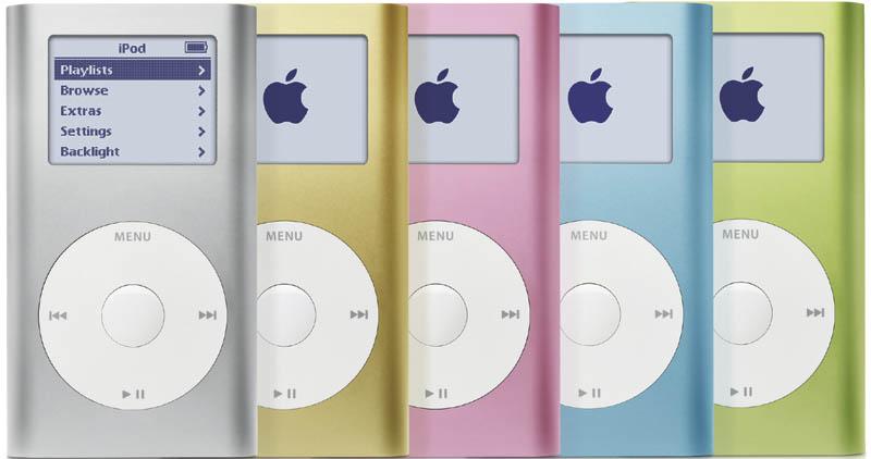 iPod mini Farben