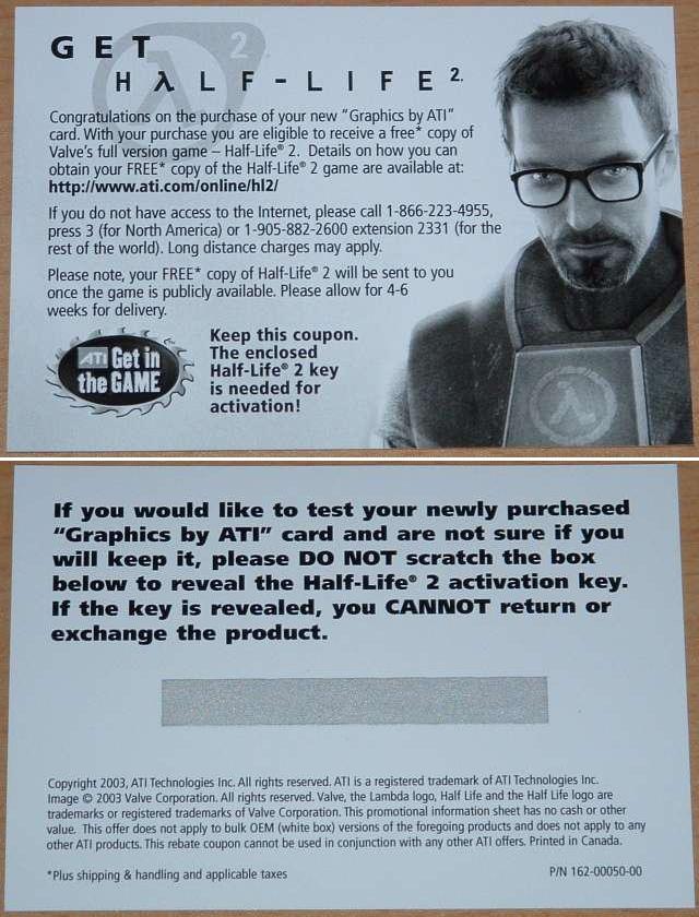 Half-Life 2 Coupon
