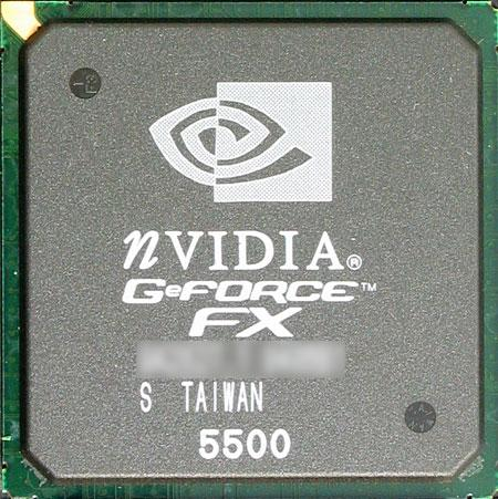 nVidia GeForce FX5500 Grafikchip