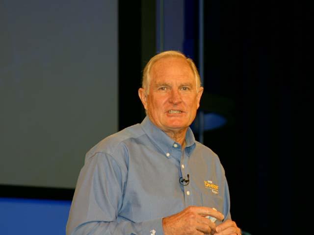 Intel-Chef Craig Barrett auf dem IDF
