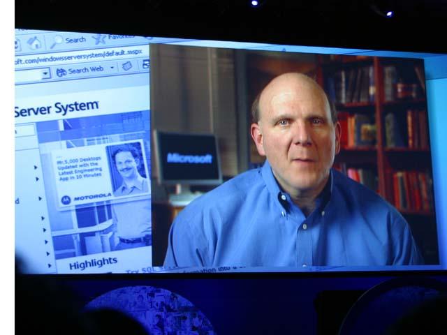 Microsoft-Chef Steve Ballmer per Video zum IDF