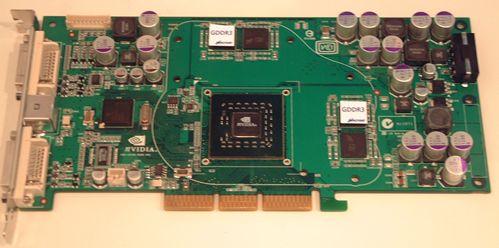 Bild eines FX5700 Prototypen mit GDDR3 (von The Inquirer)