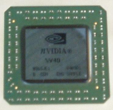 Leider etwas unscharfes Bild des NV40 Grafikchips von der CeBIT