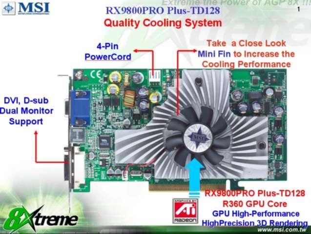 MSI Radeon 9800 Pro (von PC Games Hardware)
